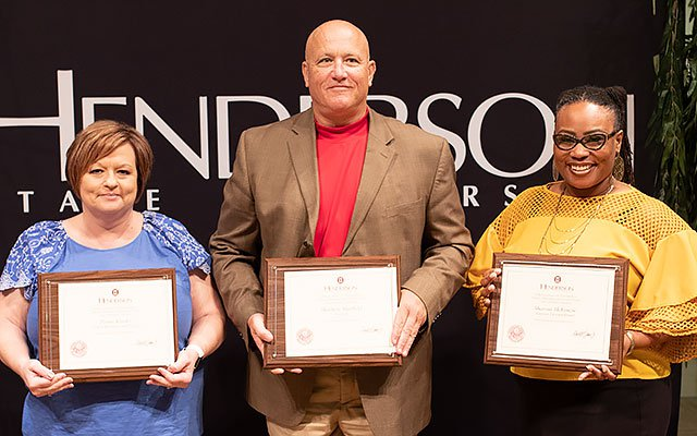 Staff honored for years of service